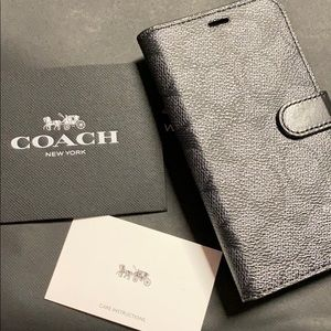 Coach iPhone case with GRP gold